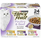 Purina Fancy Feast Sliced Poultry & Beef Collection Gourmet Wet Cat Food Variety Pack - (24) 3 Oz. Cans