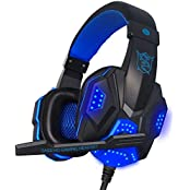 GranVela PC780 3.5mm Stereo Over-Ear Gaming Headset With Microphone LED Lighting And Volume Control For PC Computer... - B01BY90H3K