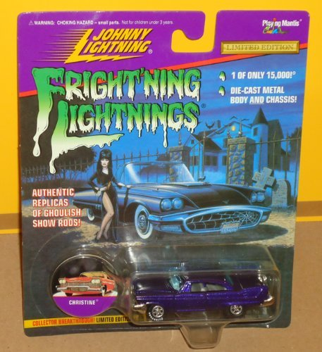 Frightning lightnings JOHNNY LIGHTNING limited edition CHRISTINE dark blue series 3 (Elvira artwork on card)