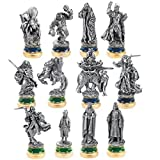 Official the Return of the King 12 Pewter Chess Character Package