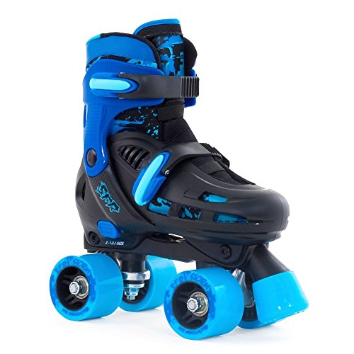 sfr-racing-storm-ii-kids-adjustable-quad-roller-skates-black-blue-large