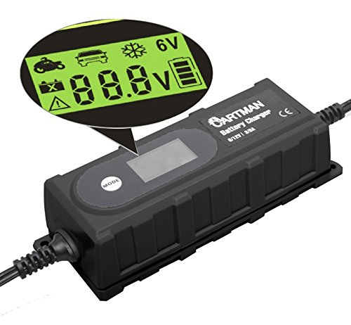 Cartman 6/12V Smart Battery Charger 3.8A (Cartman 12v Car Battery compare prices)