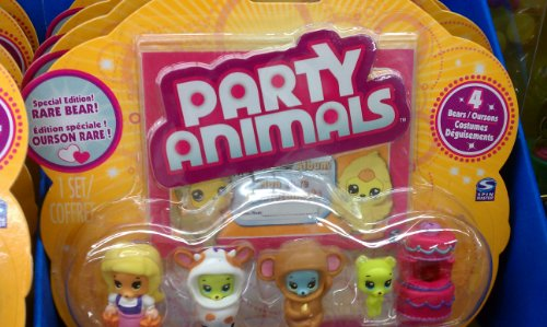 Buy Low Price Spin Master Party Animals Special Edition Rare Bear Including VIP Cake Costume Figure (B004NAESK6)