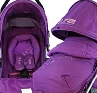 Amazon Stroller Baby Travel Zeta Vooom Complete - Plum With Footmuff from BABY TRAVEL