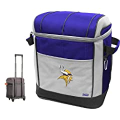 Buy NFL Minnesota Vikings 50 Can Soft Sided Rolling Coleman Cooler by Licensed Products