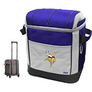 NFL Minnesota Vikings 50 Can Soft Sided Rolling Coleman Cooler by Licensed Products