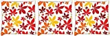 Snoogg colorful petals Pack of 3 Digitally Printed Cushion Cover Pillows 12 x 12 Inch