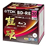TDK Blu-ray BD-RE Re-writable Disk 25GB 2x Speed 20 Pack Blu-ray Disc Rewritable Format Ver. 2.1 Super Hard Coating Surface (japan import)