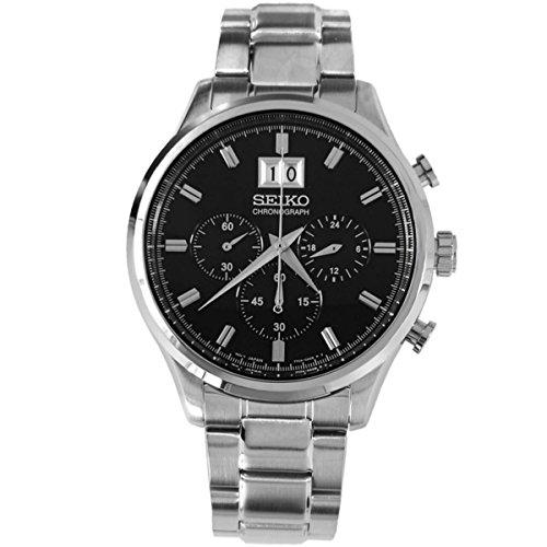 Seiko Chronograph Black Dial Mens Watch - spc083p1