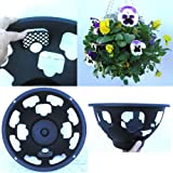 4 x Easy fill hanging baskets 14&quot; Black