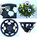 "4 x Easy fill hanging baskets 14"" Black"