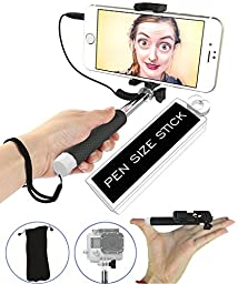 [SMALLEST] Selfie Stick, [Battery-Free] 5-in-1 Monopod with Mirror & Remote & Selfie Flash App | iPhone 6 Plus, Iphone 6 Galaxy S6 S5 GoPro POV Pole Camera | Get the Smallest Selfie Stick on the Market NOW!