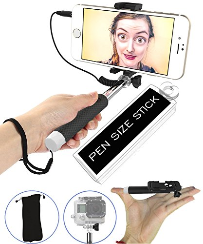 [SMALLEST] Selfie Stick, [Battery-Free] 5-in-1 Monopod with Mirror & Remote & Selfie Flash App | iPhone 6 Plus, Iphone 6 Galaxy S6 S5 GoPro POV Pole Camera | Get the Smallest Selfie Stick on the Market NOW! (Cheese Selfie Stick compare prices)
