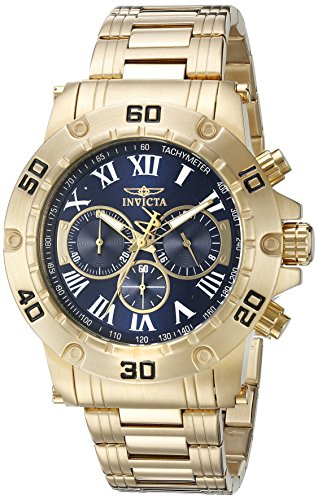Invicta Men's 19699SYB Specialty Analog Display Japanese Quartz Gold Watch