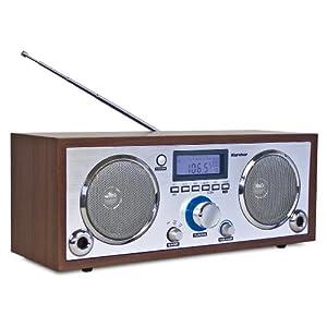 karcher ra 2005 retro radio mit gro em lcd display. Black Bedroom Furniture Sets. Home Design Ideas