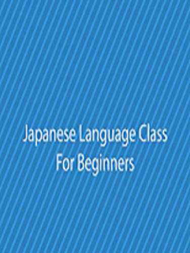Japanese Language Class For Beginners