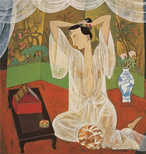 High Quality Polyster Canvas ,the Imitations Art DecorativeCanvas Prints Of Oil Painting 'Hu Yongkai,Woman Making Up,21th Century', 20x21 Inch / 51x54 Cm Is Best For Bedroom Artwork And Home Decoration And Gifts (Blue Point Brake Service Tools compare prices)