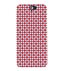 Diamond Checkered 3D Hard Polycarbonate Designer Back Case Cover for HTC One A9