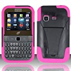 Samsung S390g (StraightTalk/Net 10/Tracfone) - HYBRID Dual Heavy Duty Hard Case and Soft Silicone Skin Cover w/ Kickstand - Hot Pink HYB