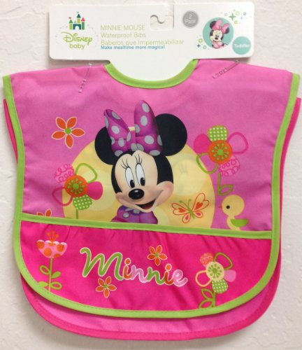 Minnie Mouse 2 Count Waterproof Bibs front-87435