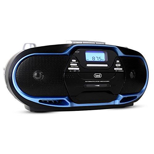 Trevi Radioriproduttore Stereo CMP574 USB, cassetta, CD, MP3, SB, SD CARD, 20W portatile BLU