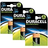 Duracell Rechargeable ultra 9V Batteries--Pack of 3