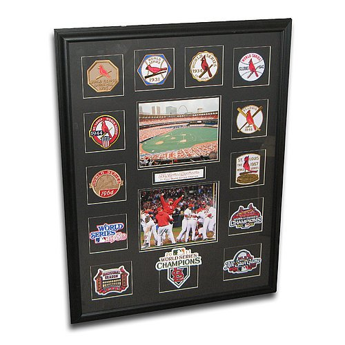 "St Louis Cardinals World Series Patch Collection Framed With 2011 World Series Patch ""If Win"" at Amazon.com"