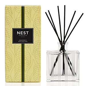 NEST Fragrances NEST08-GF Grapefruit Scented Reed Diffuser, 5.9 Oz, 175 ml