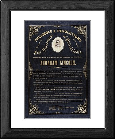 Framed Print of Preamble a resolutions adopted by the Fire Department of Phi from Mary Evans