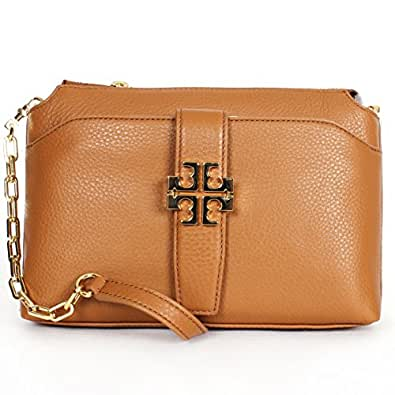 Tory burch meyer chain crossbody in bark leather handbags for Tory burch jewelry amazon