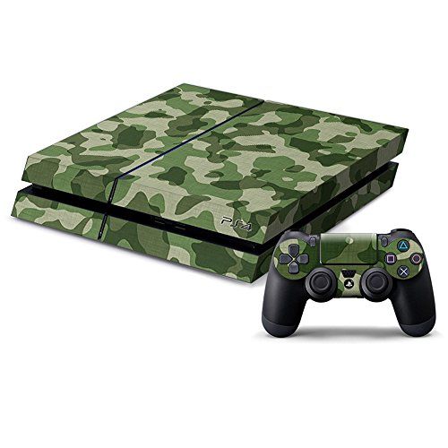 Pandaren Ps4 Console Full Skin Sticker Faceplates ( Camouflage Green Console Skin X 1 + Controller Skin X 2) (Ps4 Console For Sale compare prices)