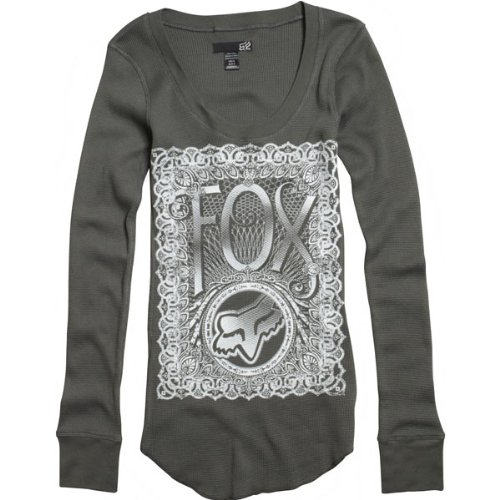 Fox Racing Seal the Deal Thermal Girls Long-Sleeve Sportswear Shirt - Color: Carbon, Size: Small