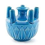 Turquoise Tulip Vase
