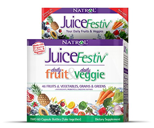 Natrol Juicefestiv Capsules, 60 Count FruitFestiv & 60 Count VeggieFestiv (Foods That Give You Energy compare prices)