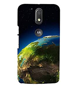 SPACE VIEW OF THE PLANET EARTH 3D Hard Polycarbonate Designer Back Case Cover for Motorola Moto G4 Play