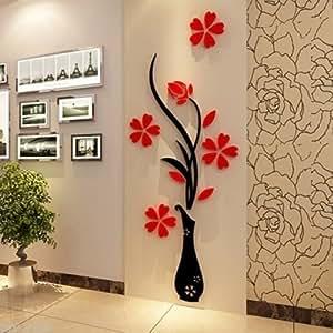Buy karigaari india blossom flower vase crystal acrylic for Best home decor on amazon