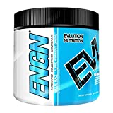 Evlution Nutrition EVL ENGN Pre-workout Powder, Pikatropin-Free, Caffeine Free Blue Raz, 20 Servings
