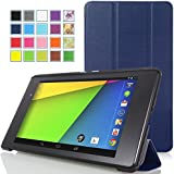 MoKo Google New Nexus 7 FHD 2nd Gen Case - Ultra Slim Lightweight Smart-shell Stand Cover Case for Google Nexus 2 7.0 Inch 2013 Generation Android 4.3 Tablet, INDIGO (With Smart Cover Auto Wake / Sleep Feature)