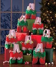 Set of 8 Elf Pants Treat Bags