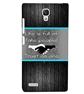 XIAOMI REDMI NOTE FAKE PEOPLE Back Cover by PRINTSWAG