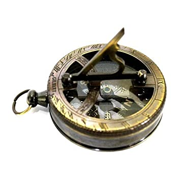 Nautical Gilbert Antique Style Pocket Compass Brass Finish