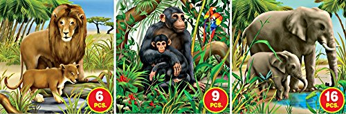 D-Toys African Wildlife Jigsaw Puzzle, Variable Piece Count