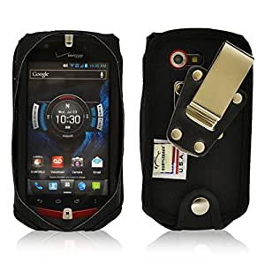 Turtleback Case for Casio GZ1 Commando 4G LTE C811 Heavy Duty Phone Case with Rotating Metal Belt Clip