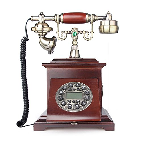 retro vintage antique style push button dial desk telephone phone home living room decor. Black Bedroom Furniture Sets. Home Design Ideas
