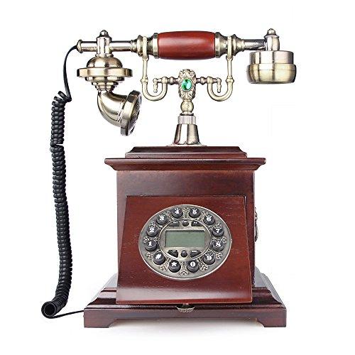 lnc retro vintage antique style push button dial desk telephone phone home living room decor. Black Bedroom Furniture Sets. Home Design Ideas