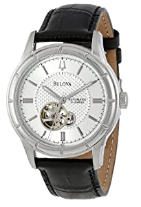 Bulova Men's 96A111  Automatic Strap Silver White Dial Watch