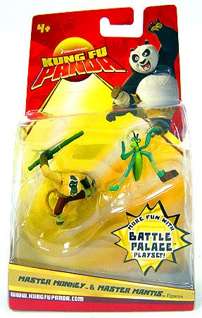 Kung Fu Panda Movie Figure 2-Pack Master Moneky & Master Mantis