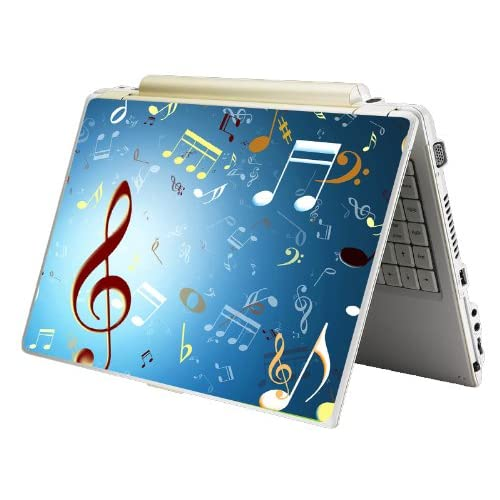 Bundle Monster Laptop Notebook Skin Sticker Cover Art Decal   12 14 15   Fit HP Dell Asus Compaq   Music Notes