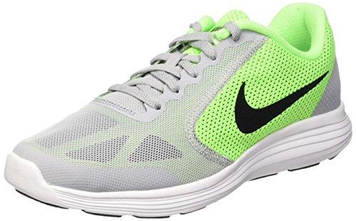 Nike Revolution 3 (Gs) Scarpe da ginnastica, Bambini e ragazzi, Verde (Voltage Green/Blck-Wlf Gry-Vlt), 38 1/2