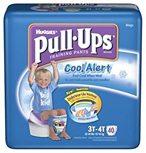 Huggies Pull-Ups Training Pants with Cool Alert Wetness Liner, Boys, 3T-4T, 40-Count